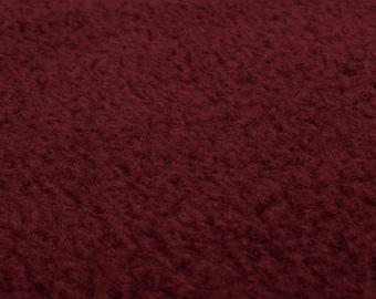 Polar Fleece (bordeaux) micro fleece fabric - 0, 5m