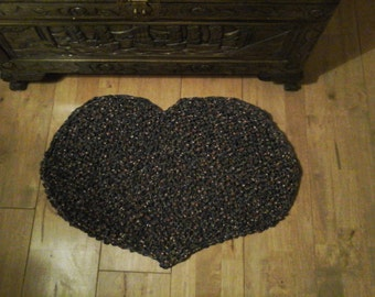 Heart Shaped Scatter Rug