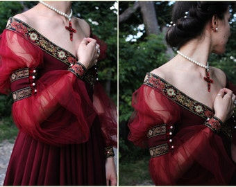 Renaissance Dress Historical Costume 1500 Italian Renaissance 16th Century Gown Handsewn