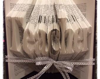 Teacher Book Art, Folded Book, Best Gift for Teacher, Unique Teacher Gift, Book Folding Art, Folded Book Art for Sale, Teacher Gift