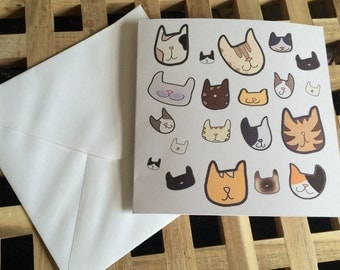 Cats, cats, CATS! Greetings card