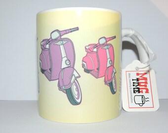 Vespa Mug - 11oz Ceramic Coffee Cup Mug - Motorbike Scooter Motorcycle