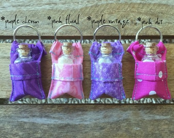 Fairy Dust Keychain- pink and purple