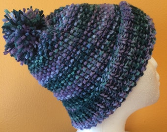 Multicolored Knit Beanie
