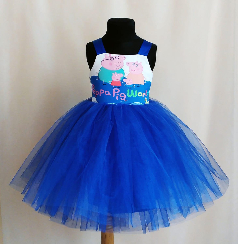 amazing blue peppa pig birthday dress peppa pig tutu party
