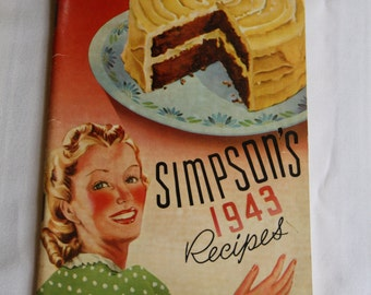 Vintage recipe boo - Simpson's 1943