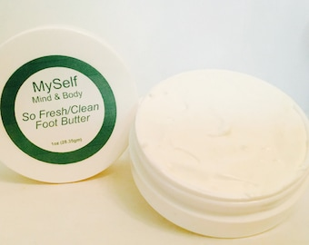 Foot Butter, Foot Treatment, Softening Foot Cream, Soothing Foot Cream, Shea Butter Foot Cream