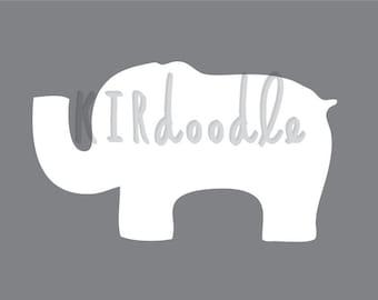 A4 Elephant Print