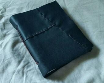 Black Leatherbound Braided Journal/Sketchbook