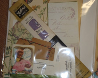 Edith Holden Inspired Scrapbook Ephemera Pack -6 pages from The Country Diary of an Edwardian Lady