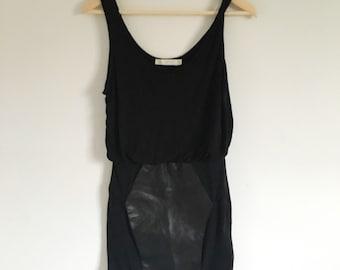 Vintage Minkpink Dress with Leather Panel Skirt