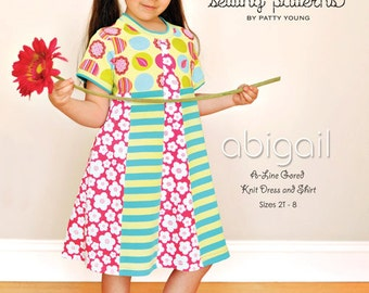 ModKid - Abigail - Paper Sewing Pattern for Girl's Dress