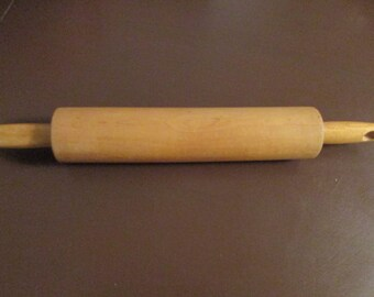 Vintage Rolling Pin - Bakers Wooden Pastry Rolling Pin - Farmhouse Decor - Wooden Rolling Pin - 16""