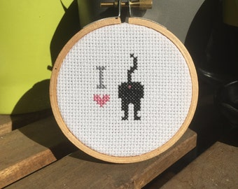 I Love Cat Butts Cross Stitch