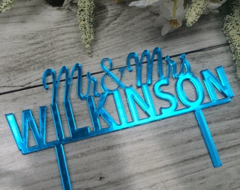 Personalised Name Cake Topper - Choose your colour!
