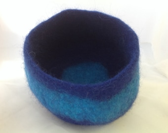 Hand felted bowl, vessel,pot
