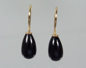 750 gold earrings earrings Onyx p unique forged master work
