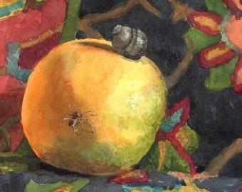 Grapefruit and Two watercolor print