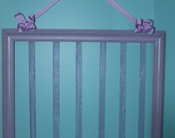 Lavender hair bow holder
