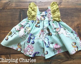 Double Ruffle Tunic | choose your fabric | 3m to 10y