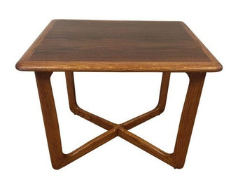 Lane Oak And Walnut End Table