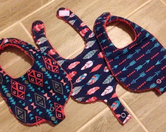 Binky Tribal Teething Bibs