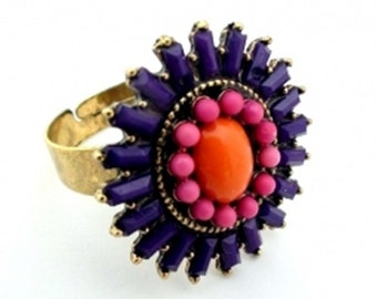 Colorful burst of Spring Color ring