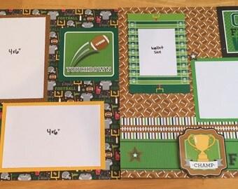 Touchdown 2 page scrapbook layout