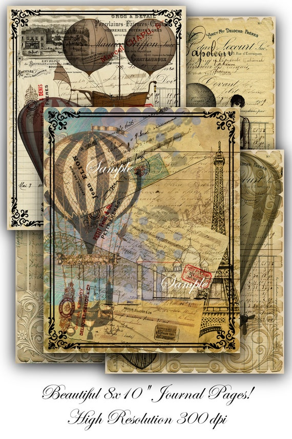 This is an image of Eloquent Junk Journal Printables