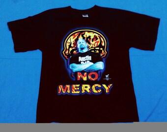 rare stonecold steve austin 90's shirt no mercy / WWF WWE WCW /wrestler shirt /wrestle shirt