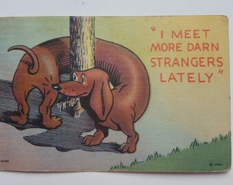 Vintage 1940's MWM General Comic Series Post card