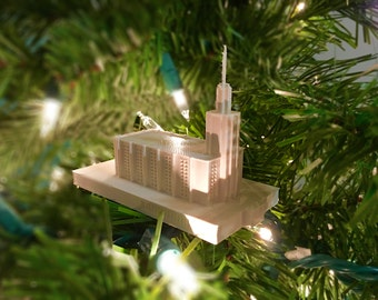 Hamilton, New Zealand LDS Temple Christmas Ornament