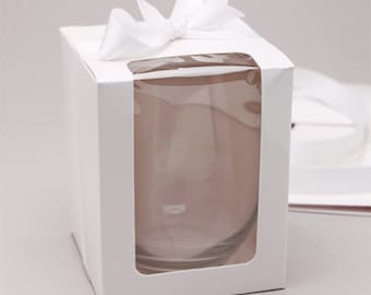 White Stemless Wine Glass Gift Box (set of 12)