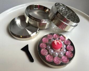 Light Pink Cupcake Herb Grinder