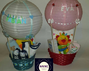 Custom balloon gift basket