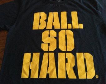 Ball So Hard Navy and Gold T-Shirt, Medium