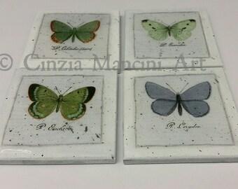 Butterflies Vintage Coasters