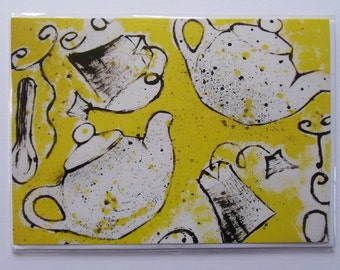 Time for Tea Greetings Card (Large)