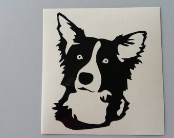 BORDER COLLIE Vinyl Decal .. Free Shipping ..  Car Window Sticker Laptop Wine Glass Beer Mug Frame Sports Bottle Organizer