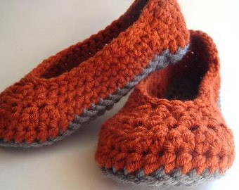 Crochet Oma (Grandma) House Slippers 100% Cotton Eco Friendly