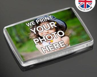 Personalised Custom Photo Gift Fridge Magnets 66 x 44 mm | Large Size
