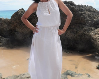 Long Dress, Maxi Summer Dress, Beach Dress, Beach Cover up, White Dress, Resort Wear