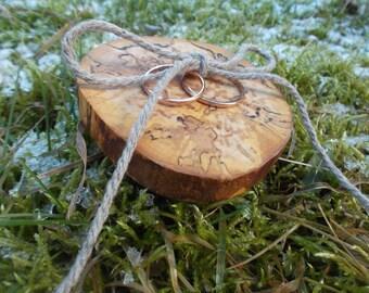 Rustic Wooden Ring Holder, Rustic Ring Bearer Pillow, Wedding Wood Slice, Wedding Decor, Wood Wedding Decor, Wood Wedding Ring Bearer Slice