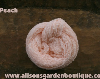 Peach Cheesecloth Baby Wrap