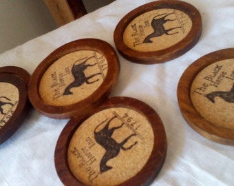 REDUCED 1/2 PRICE Black Horse Inn Coasters