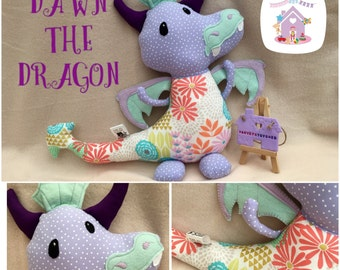 Handmade To Order Dragon Soft Toy
