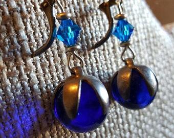 Antique Cobalt Marbles