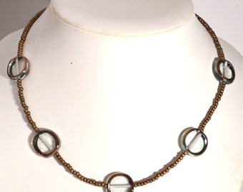 Sead beads with Ale Ale glass Beads Necklace and Earrings Set