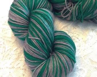 Slytherin - Hand dyed, Self Striping - Ready to Ship