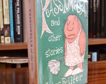 Jules Feiffer cartoonist - Passionella and other stories - Vintage book 1960 - Satire
